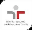 Zertifikat seit 2013 audit berufundfamilie
