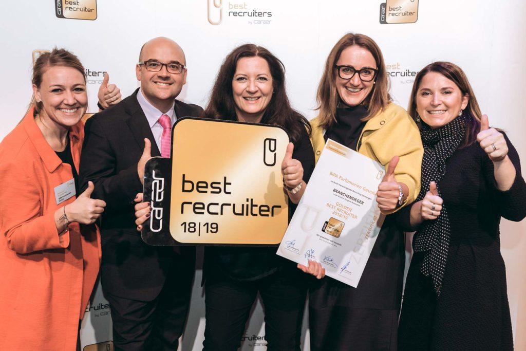 BIPA erreicht den 1. Platz in der Branche Drogerie/Accessoires in der Best-Recruiters Studie 2018/2019