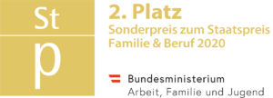 """Silber beim Staatspreis Sonderpreis """"Bestes Employer Branding zur Vereinbarkeit in Corona-Zeiten"""""""