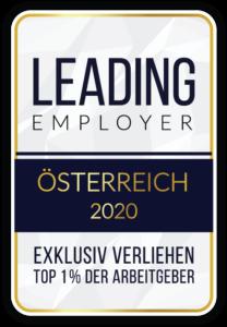 Auszeichnung Leading Employer 2020