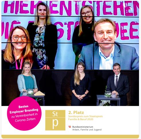 Verleihung - 2. Platz Sonderpreis zum Staatspreis Familie & Beruf 2020