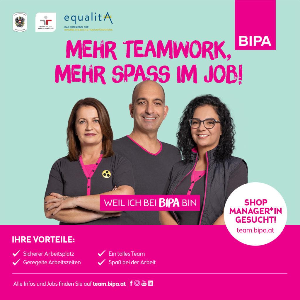 Werbemittel der BIPA Personalkampagne 2021